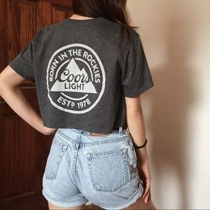Coors Light cropped graphic tee